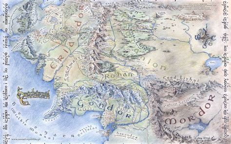 Map Of Middle Earth Wallpapers