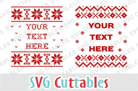 👋 looking for the ugly browser christmas pattern? Christmas SVG - Ugly Christmas Sweater Templates - SoFontsy