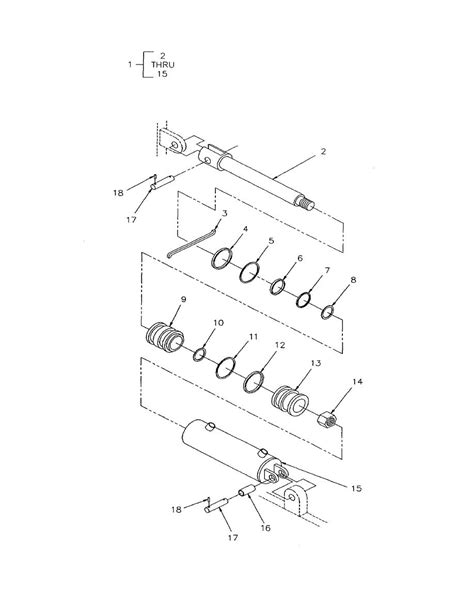 Figure 137. Tilt Cylinder Assembly and Mounting