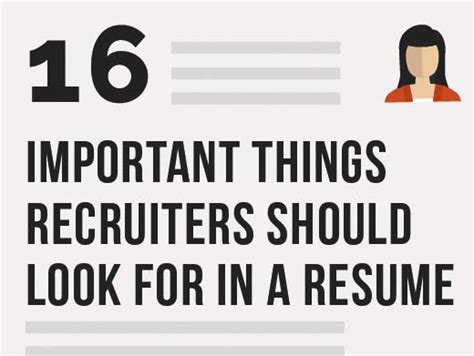 16 important things recruiters should look for in a resume