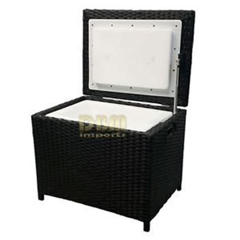 portable resin wicker cooler chest patio