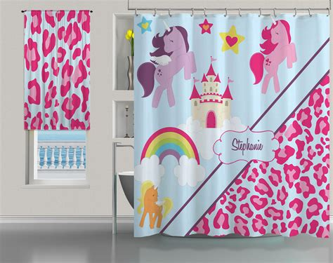 Pink Cheetah Print And Little Pony Shower Curtain For Kids #9 Swing Arm Curtain Rod French Doors Baby Boy Bedroom Curtains And Rods For Door Panel Uk Rail Pulley System Light Alternatives How To Make Long Short Beautiful Living Room