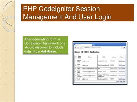login form in php with session and validation php codeigniter session management and user login