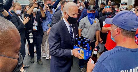 joe biden hands  beer  shanksville firefighters