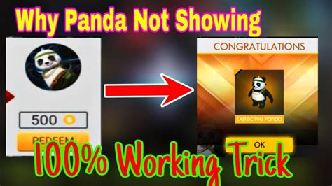 Users must go to the redeem tab and select. How To Redeem Panda in Free Fire   How To Get Free Panda ...
