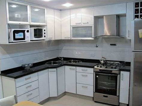muebles  cocina en melamina blanca  cantos en
