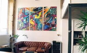 Toile Street Art : tryptique graffiti art precolombien par popek d coration homify ~ Teatrodelosmanantiales.com Idées de Décoration