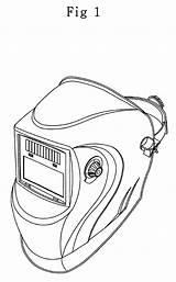 Welding Helmet Drawing Welder Mask Google Tattoo Skull Vector Sketch Outline Coloring Designs Pages Helmets Patents Tig Template Stencils Templates sketch template