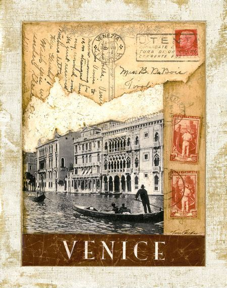 decoupage welcome sign items similar to venice postmark the grand canal 11 quot x14