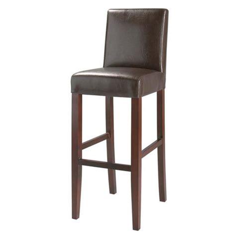maison du monde chaise de bar chaise de bar imitation cuir et bois marron boston