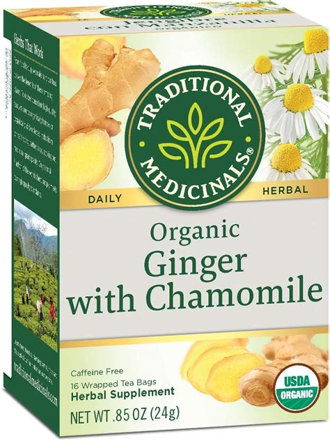 Traditional Medicinals Ginger with Chamomile Herbal Tea ...