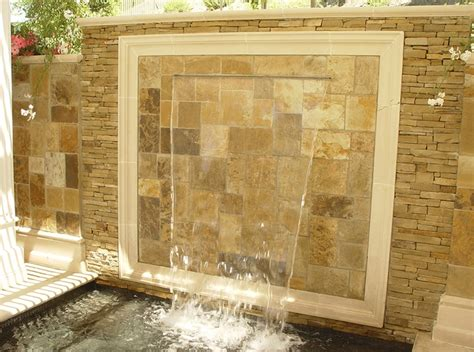 outdoor wall waterfall 49 amazing outdoor water walls for your backyard digsdigs