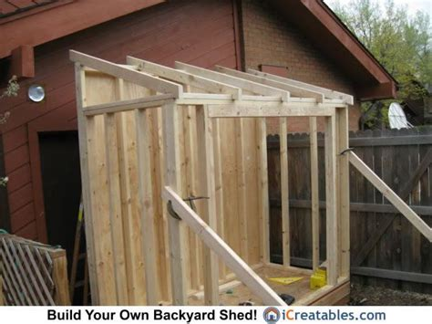 lean  shed roof framing craftsprojects lean