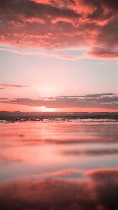 Ocean Sunset Iphone Water Wallpapers Unsplash Clouds