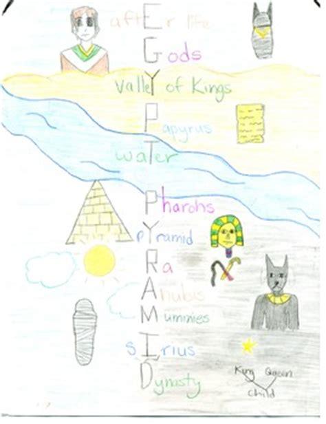 egypt acrostic illustrated poem  ancient egypt