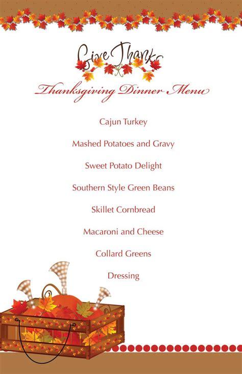 printable thanksgiving splendor menu  tamilyngardner