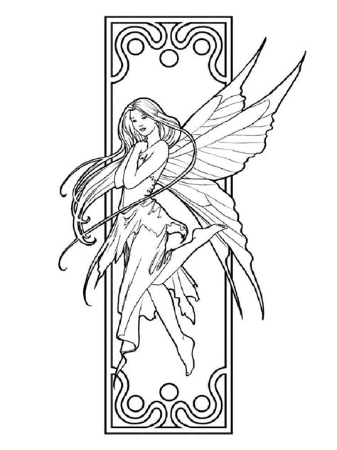 fairy coloring pages  adults  printable fairy coloring pages