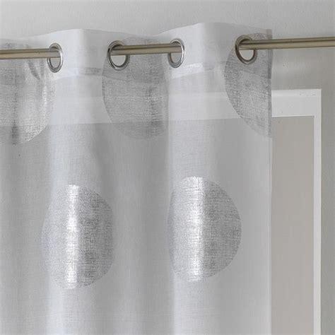 voilage 140 x h240 cm platine blanc voilage eminza