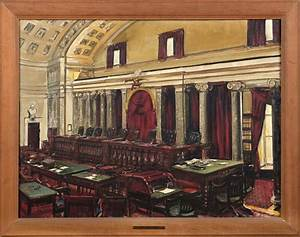"""Interior of the U.S. Supreme Court"", PWAP Painting by ..."
