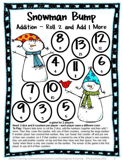 freebie addition bump from snowman math bump 975 | 2a1daad7fd648c79c3f35fdbf8b84309
