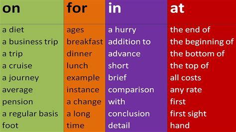 top prepositional phrases