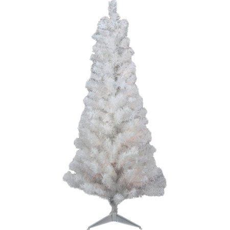 unlit white trees slim 4 x 24 quot slim white tinsel artificial tree unlit walmart