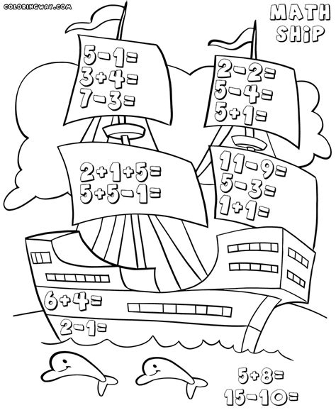 Coloring Math Worksheets by Math Coloring Worksheets Coloring Pages To And
