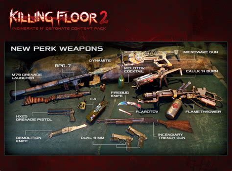 killing floor 2 guns killing floor 2 incinerate n detonate free content update available now
