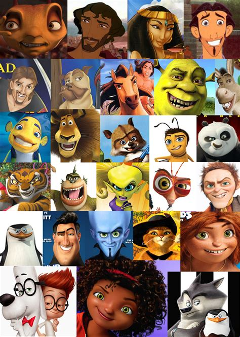 Cartoon Boat Movies by A Comprehensive Collection Of The Dreamworks Face A
