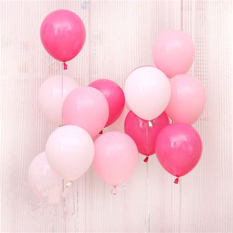 pink and white balloon decorations aliexpress buy pink white balloons 10pcs