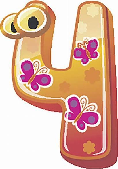 Cartoon Numbers Colorful Icon Sticker Kindergarten Nursery