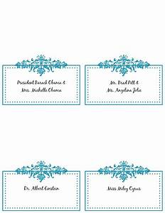 6 best images of free printable wedding place cards free With table placement cards templates
