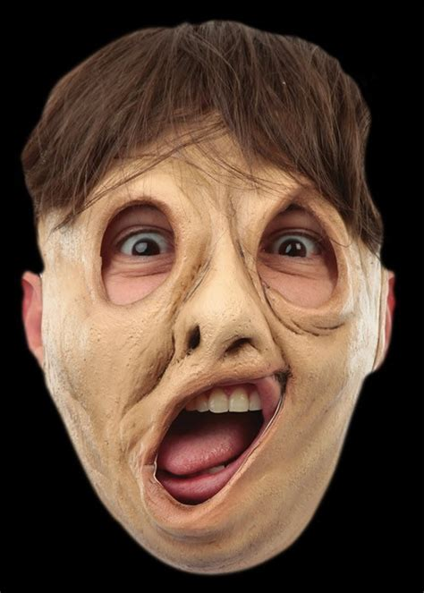 Twisted Face Halloween Mask