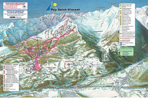 Puy St Vincent Piste Map / Trail Map