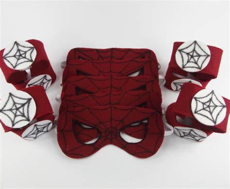 Kit Máscara e braceletes Homem Aranha no Elo7