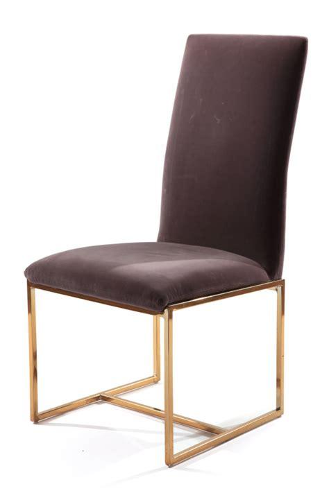 6 milo baughman thayer coggin brass dining chairs