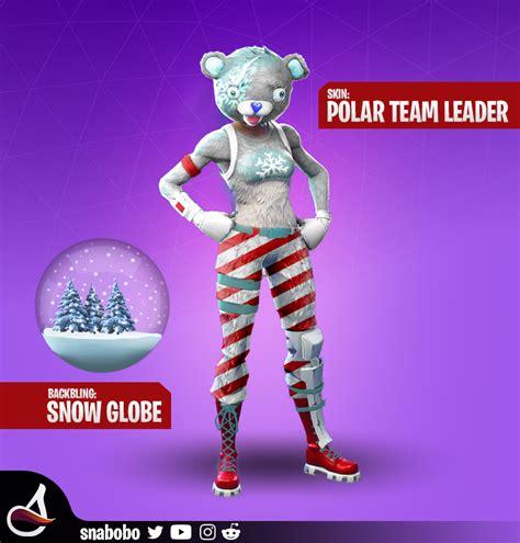 polar team leader  snow globe  bling skin concept