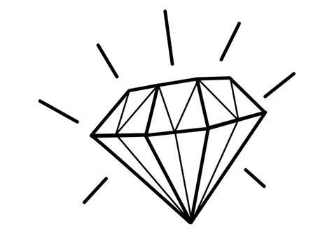 coloring page diamond img