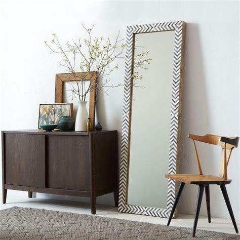 floor mirror west elm parsons floor mirror gray herringbone west elm