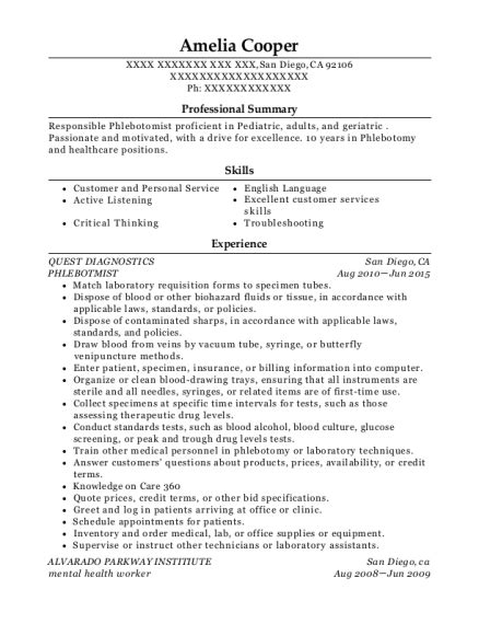 Resume Specimen by Best Specimen Accessioner Resumes Resumehelp