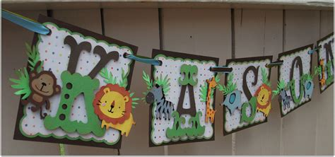 Homemade Banners For Baby Shower by Handmade Banner Custom Made Go Green Name Banner Happy