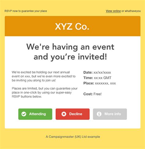 Rsvp Template For Event Search Results Invitations