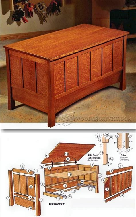 blanket chest ideas  pinterest woodworking