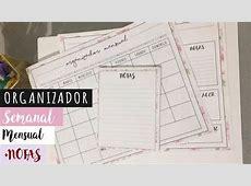 DIY Organizador Semanal, Mensual y Notas YouTube