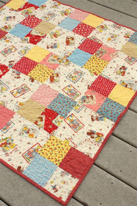 baby quilt patterns simple four patch baby quilt
