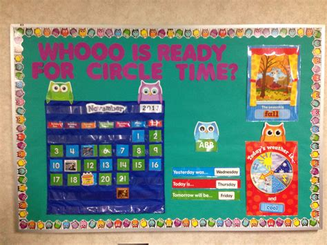 circle time bulletin board unfinished in picture owl 474 | dcd7719f6978f09a40c375903f22d108