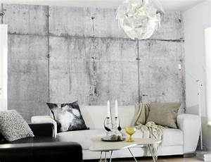 Concrete wall collection interiorzine for Kitchen colors with white cabinets with papier carte grise