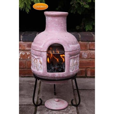 chiminea for sale uk gardeco cozumel clay bbq chiminea midsize portable choice