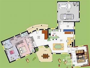 vaste villa detail du plan de vaste villa faire With beautiful plan maison moderne 3d 7 cuisine contemporaine plans cuisine contemporaine