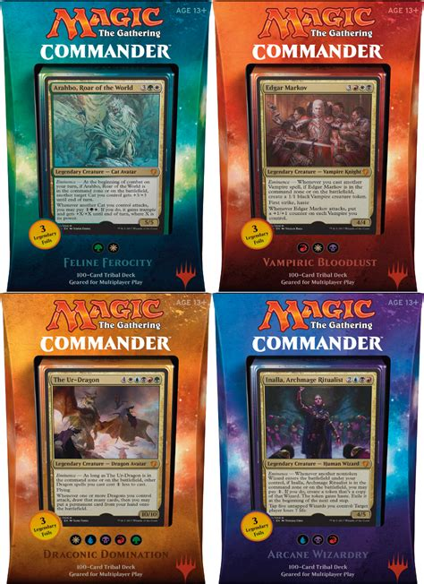 2017 Mtg Commander Set Of 4 Decks  Magic Products